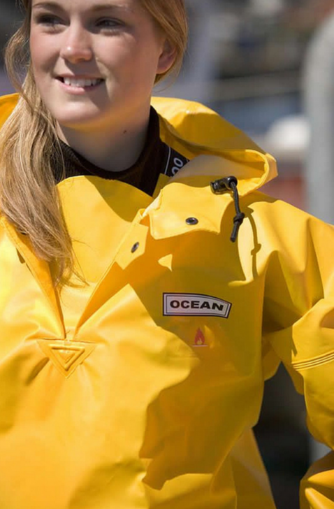 Ocean rainwear raingear PVC PU heavy-duty raincoat