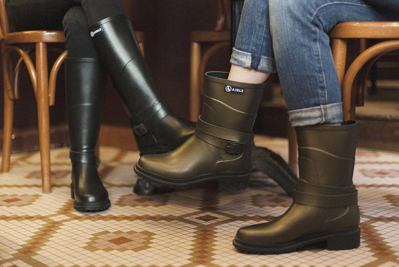 Aigle rubber rain boots from France