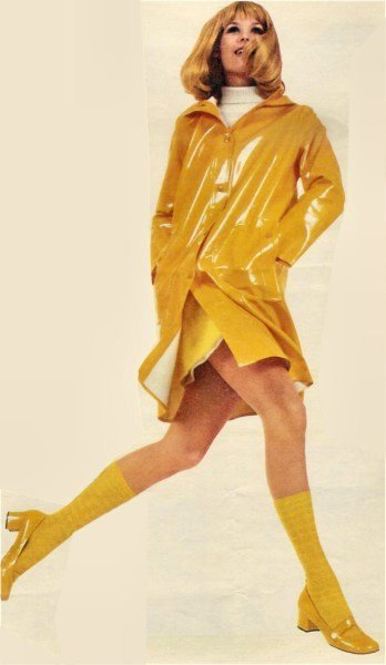 yellow raincoat inspired by guy cotten