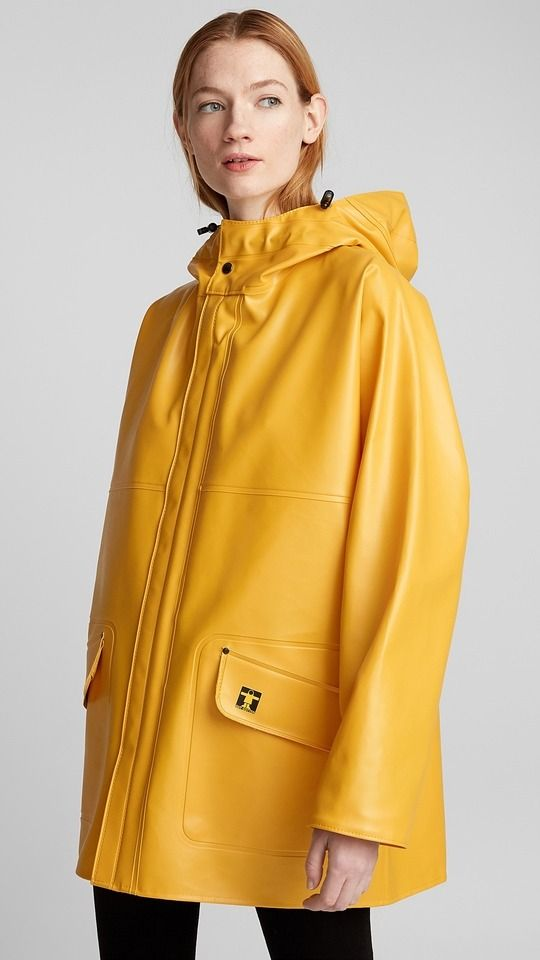 Guy Cotten rosbras yellow PVC raincoat