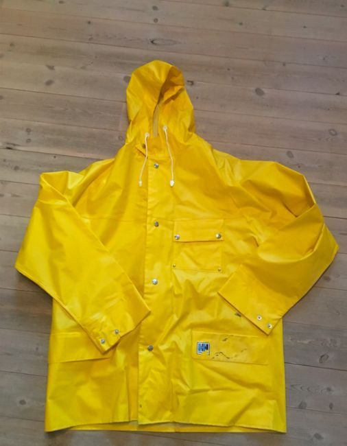 helly hansen vintage raincoat pvc rubber yellow