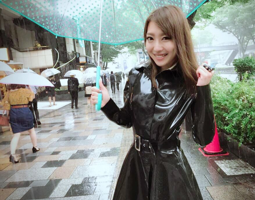 iori sakai raincoat rubber black mackintosh