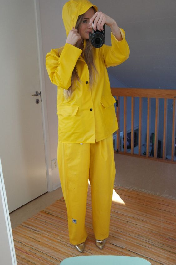 Helly Hansen vintage rainwear in yellow