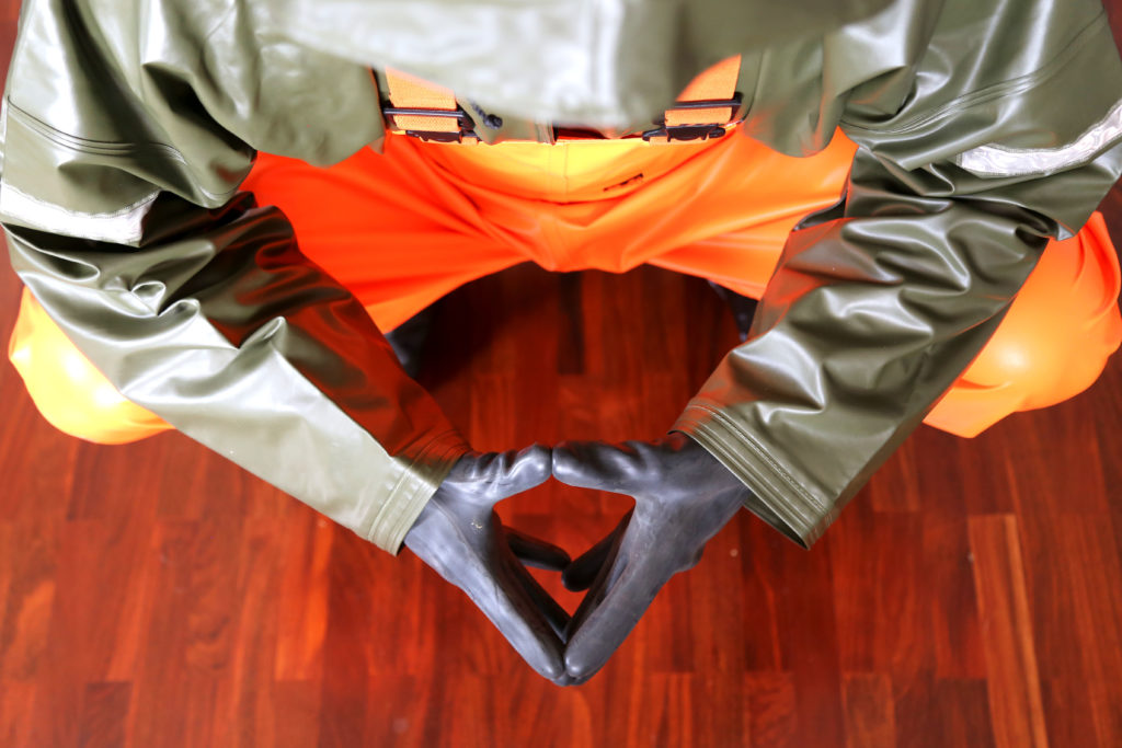 66North 66N rainwear raingear orange raincoat rainbib rainpants pvc heavy-duty