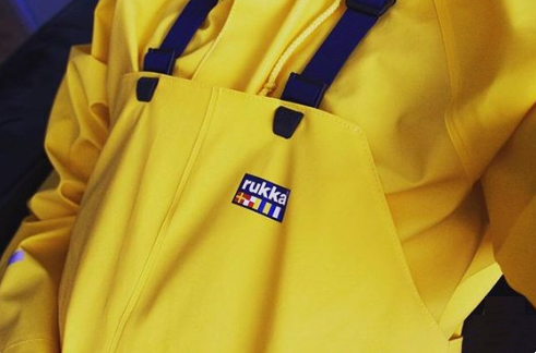rukka raincoat rainwear from finland yellow