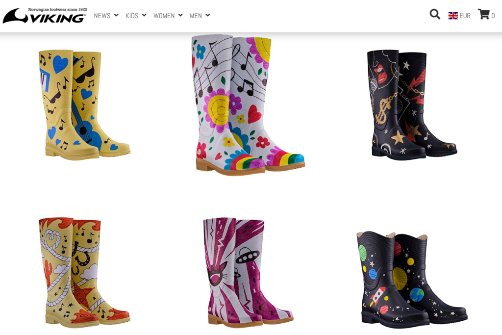 viking rainboots festival customized