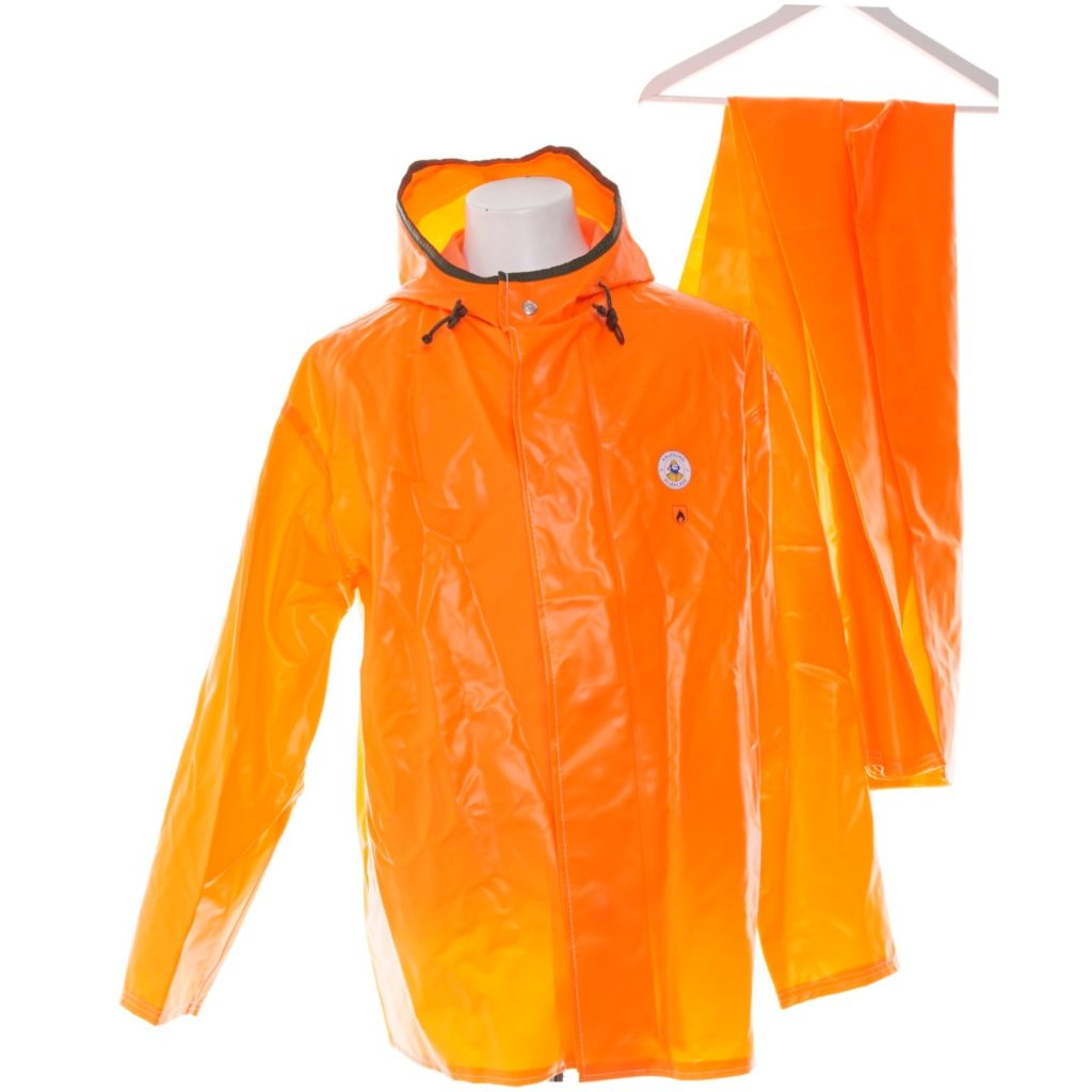 Aalesund raingear rainwear in orange PVC rainsuit