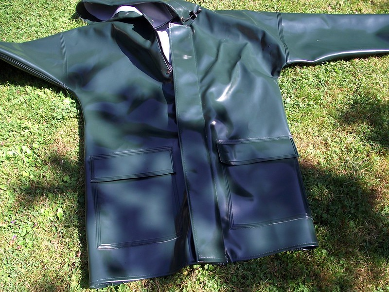 aj group green opalo raincoat
