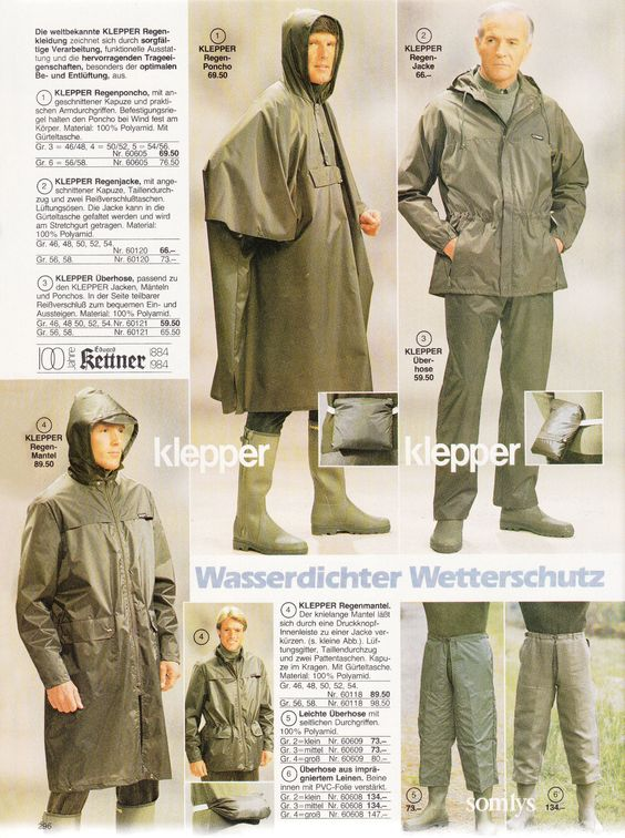klepper rainwear for kettner