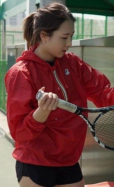 kway cagoule asia red