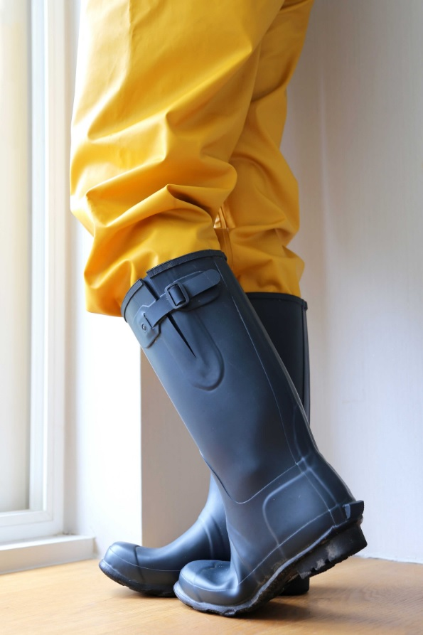 rubber boots blue from china